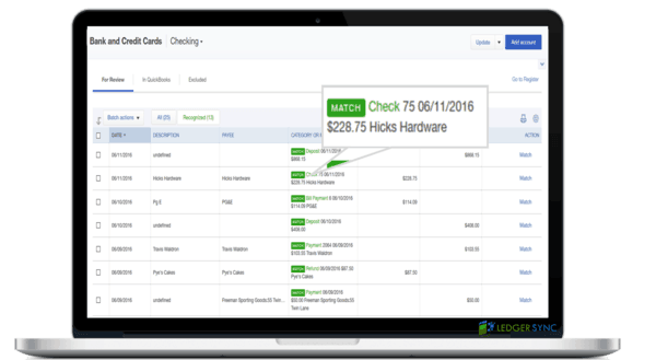 Connect your Bookkeeping accounts with Ventura QuickBooks & Ledgersync